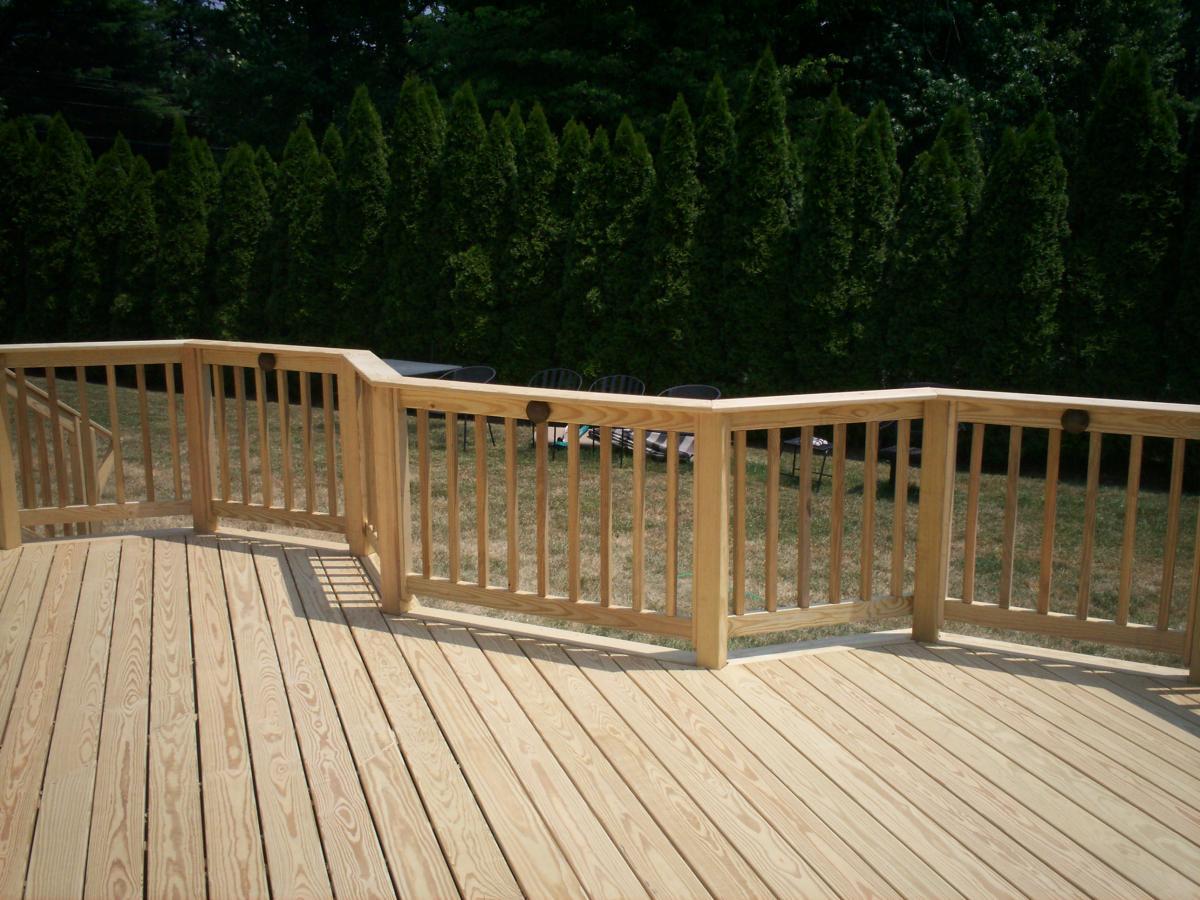 Pressure treated decking san diego deck builders for Custom deck plans